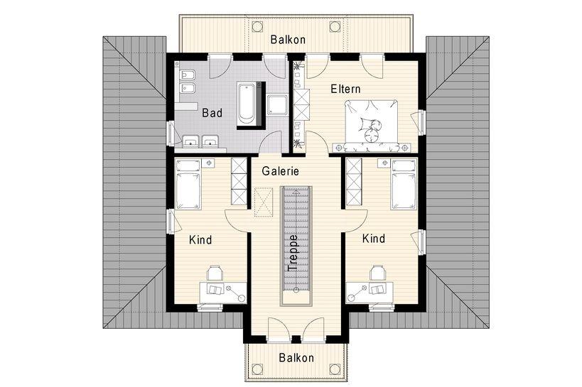 Grundriss villa modern  Mediterane Villa 180 m²